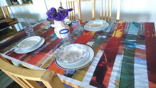 Sunset Shift Tablecloth | Linens & Bedding by LNozickArt/Design