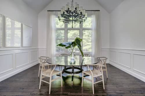 Chandeliers by Circa Lighting seen at Private Residence, Water Mill, Water Mill - Chandeliers