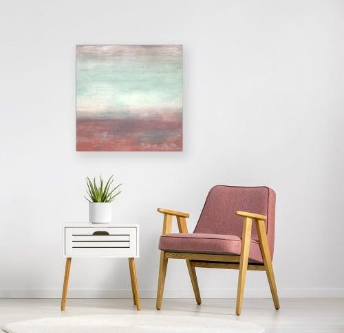 Blush Sky Encaustic Painting   Paintings by Linda Cordner   Studio in Boston, MA in Boston