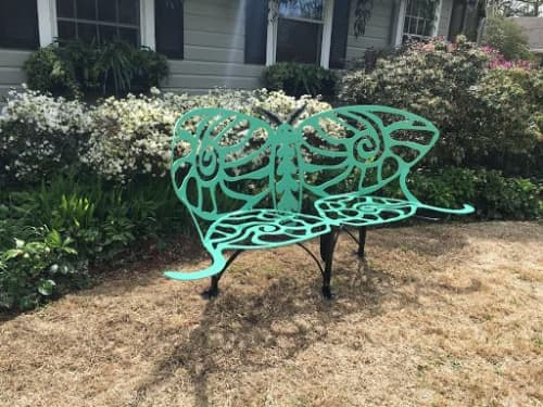 Butterfly Bench   Public Sculptures by Joni Younkins-Herzog