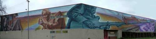 Layin' Down Tracks mural | Street Murals by C5 Charlie