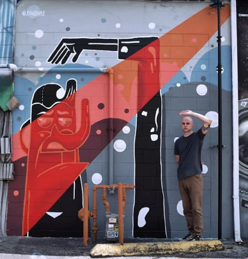 Murals by Ryan Semple seen at Pho Hoa Noodle Soup   Orlando, Orlando - 'Heat' Exterior Mural