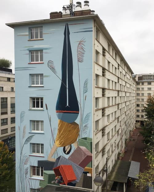Global-Truc | Street Murals by Antoine Martinet - MioSHe