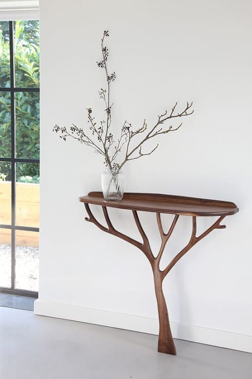 Bespoke walnut console table | Tables by Design by Timber