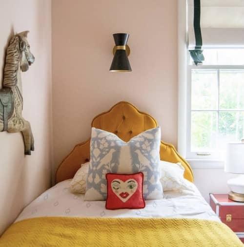 Pillows by Mommani Threads seen at Private Residence, Johnson City - VALENTINA heart art cotton sateen pillow / original design