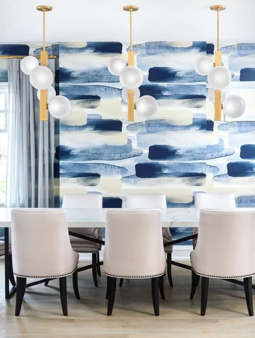 Wallpaper by Emma Hayes at Rosedale, Toronto - River Wallpaper - Blue