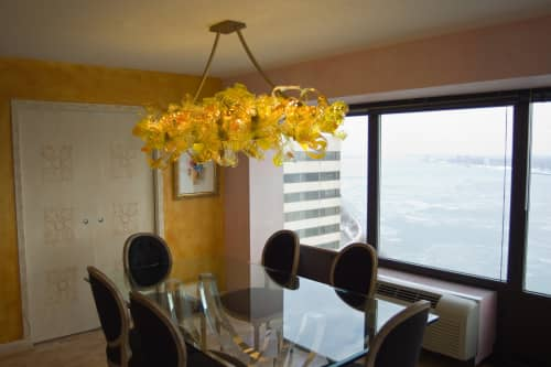 Chandeliers by April Wagner, epiphany studios seen at Private Residence - Gold Cirrus