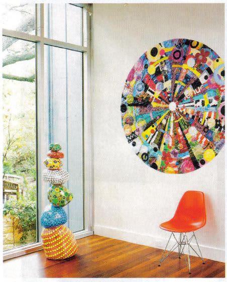 Art & Wall Decor by Virginia Fleck seen at Private Residence, Austin - Buymore small Mandala