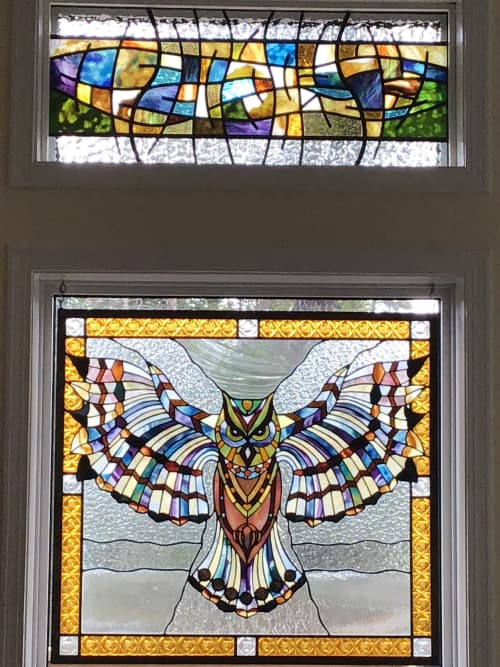 Great Horned Owl | Art Curation by Glass Act Studio