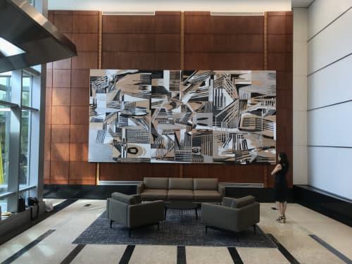 """""""Vectorscape II""""   Paintings by Vargas-Suarez Universal"""