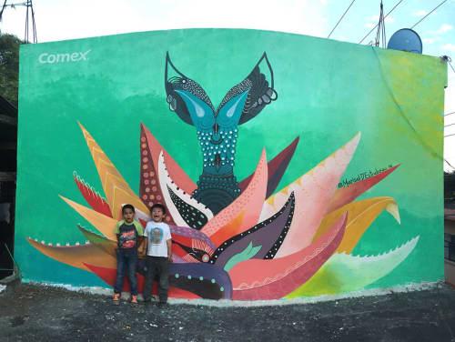 Aguamiel estrella   Murals by Marisol D'Estrabeau