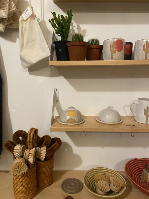 Half of the Whole Butter Dish in Marigold   Tableware by Margaret and Beau Ceramics   Cupboard Goods in Portland