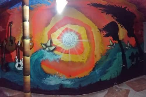 Murals by Léo Araújo seen at Private Residence - EmSolarAção