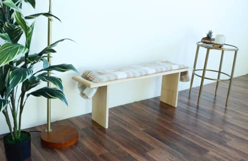 Benches & Ottomans by THE IRON ROOTS DESIGNS seen at Private Residence, Portland - Blanket Bench