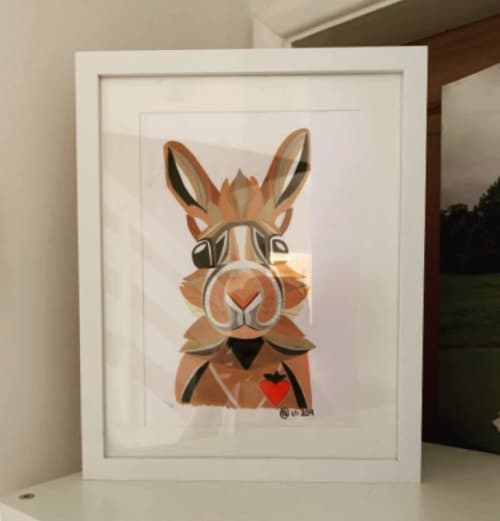 Commission - Rabbit | Paintings by Geo-Wild Designs (Mahayla Clayton)