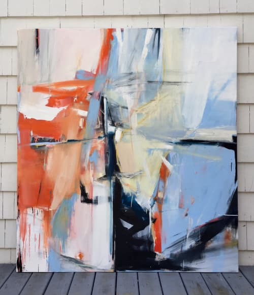 """Abstract painting """"East End  Weekend"""" 