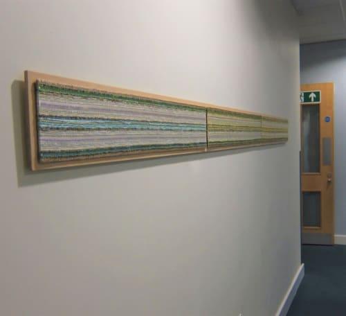 'Narrative Ribbons' Woven Panels.   Art & Wall Decor by Jan Bowman Designs