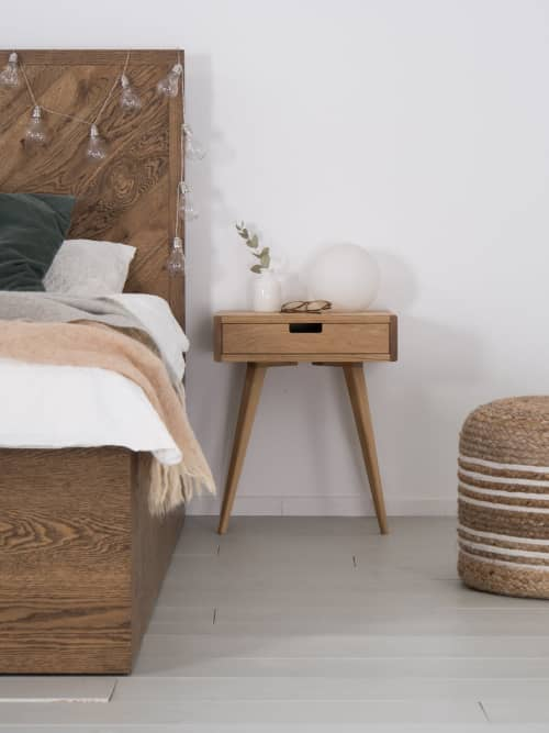 Furniture by Mo Woodwork seen at Stalowa Wola, Stalowa Wola - Mid century nighstand, bedside table, with drawer
