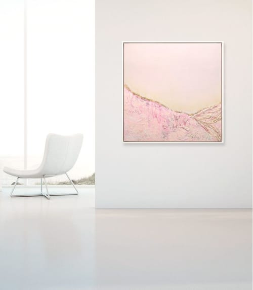 Suspended in the Glow - Abstract Landscape   Paintings by Kelly Hanna Studio