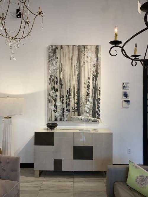 Paintings by Maria Martin seen at Bravo Interior Design, Austin - Draped