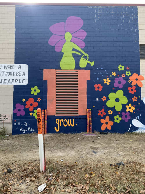Murals by Sy at Saint Arnold Brewing Company, Houston - Grow