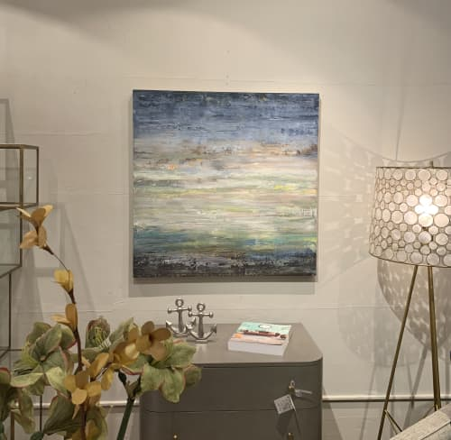 Shimmering Calm | Paintings by Stephanie Thwaites | Ruby LivingDesign in Mill Valley