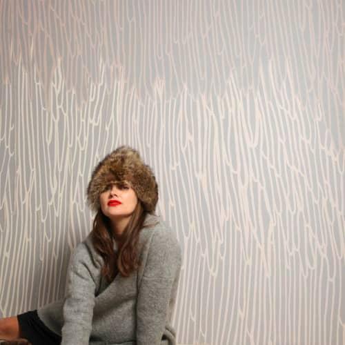 Wallpaper by Jill Malek Wallpaper - Stalactite | Taupe