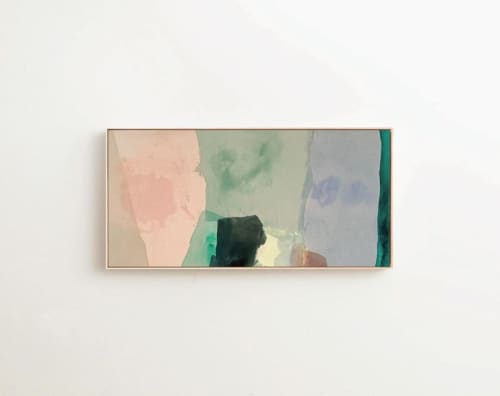 "Paintings by maja dlugolecki - 'as my mind wanders no. 02', 36"" x 72"""