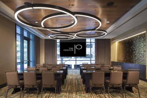 Multi-Ring Chandelier   Chandeliers by Bluebird Lighting   The Porter Hotel - Curio Collection by Hilton in Portland