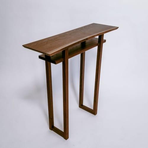 Live Edge Side Table - Walnut | Tables by Mokuzai Furniture