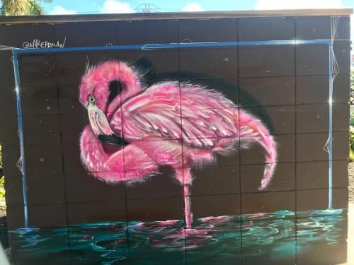 Street Murals by Max Ehrman (Eon75) seen at Celebration Park Naples, Naples - Flamingo Mural