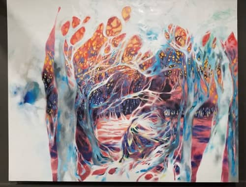 Paintings by Lisa Rachel Horlander seen at WorkHub, Tyler - Entangled Oasis