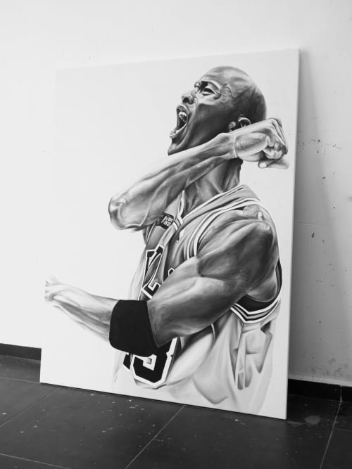 His Airness | Paintings by Ricardo Rodriguez Cosme