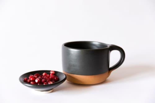 Black Modern Coffee Mug | Cups by Tina Fossella Pottery