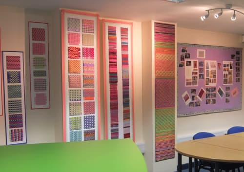 Weaving Workshops Rowletts Hill Primary School. | Murals by Jan Bowman Designs | Rowlatts Hill Primary Academy in Rowlatts Hill