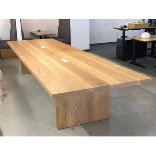 White Oak Conference Table   Tables by Angel City Woodshop   Playvs in Santa Monica