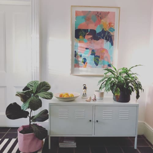 Paintings by Paul Senyol seen at Private Residence, Cape Town - Abstract painting