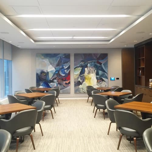 """Paintings by Melanie Authier at Deloitte, Toronto - """"Switchback and Downside-Up"""""""