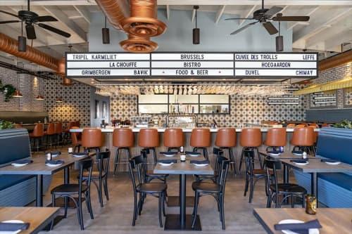 Interior Design by DMDesign seen at Brussels Bistro, San Clemente - Interior Design