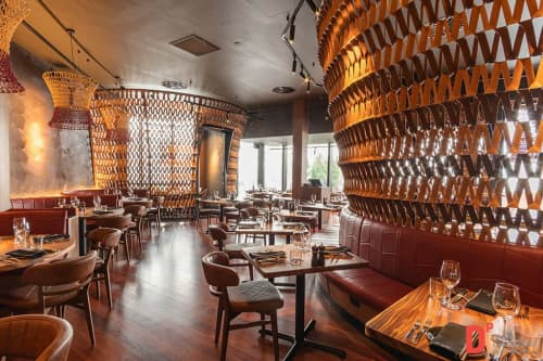 Wall Treatments by Kent And Lane at The Meat & Wine Co Chadstone, Chadstone - Wall Treatments