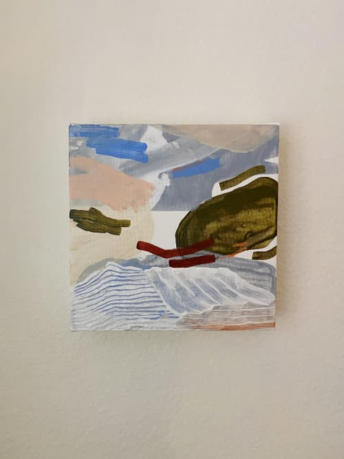 "Paintings by Quinnarie Studio - ""Koi pond"" original canvas piece"