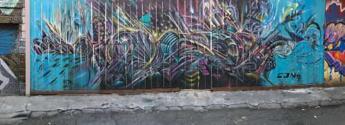 Street Murals by Max Ehrman (Eon75) seen at Valencia Street, San Francisco - City Of Life
