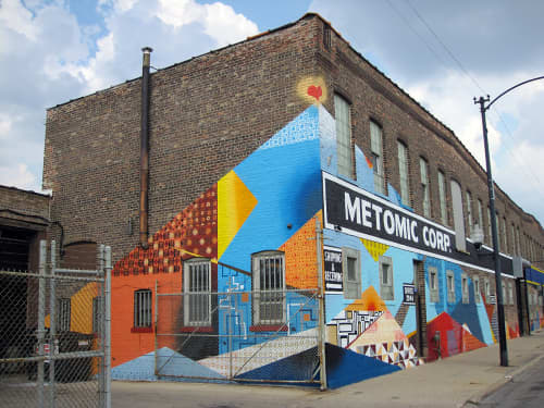 Murals by Chris Silva at Metomic Corporation, West 26th Street, Chicago, IL, Chicago - Triple Heart Bypass