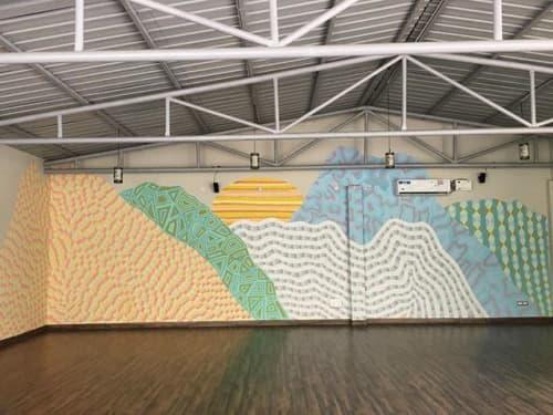 Murals by Maureen Walsh seen at Sattva Retreat, Jogiyana - Samadhi Mountain Range