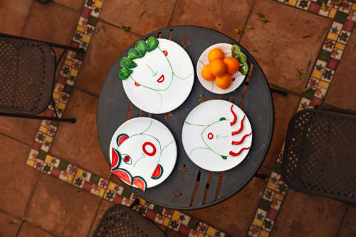 Ceramic Plates by Patrizia Italiano seen at Creator's Studio - Riccardo plate with reliefs