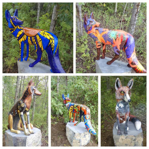 Foxes   Public Sculptures by Don Begg / Studio West Bronze Foundry & Art Gallery