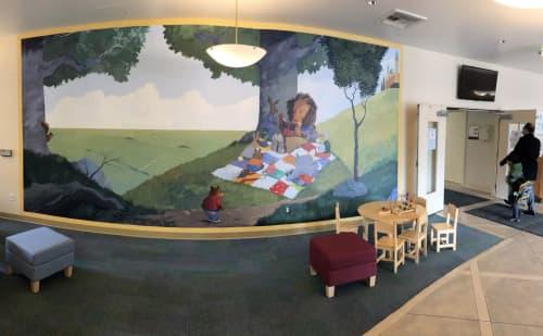 Murals by Scott Willis at The Harker School - Preschool Campus, San Jose - Harker Preschool Mural