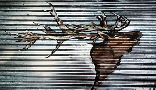 Elk on Corrugated steel | Paintings by Sweet De'sign