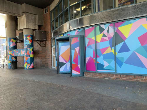Building Wrap and Decals | Art & Wall Decor by Allison Tanenhaus | Bulfinch Crossing in Boston