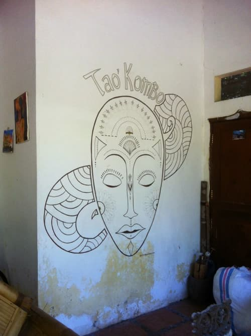 Murals by Arlette Beerenfenger seen at Gili Air - Tao Kombo Wallpiece